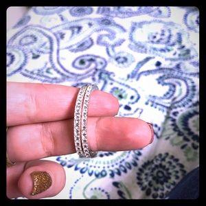 Cute gem hoop earrings with silver coloring